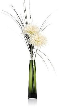 Marks and Spencer Artificial Spiky Crysanthenmum & Grass in Glass Vase