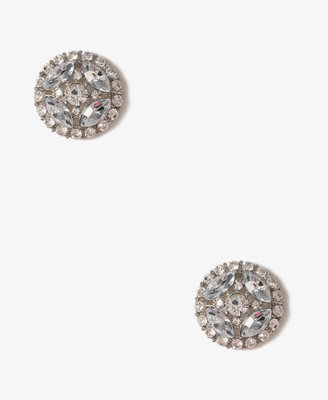 Forever 21 Rhinestoned Dome Studs