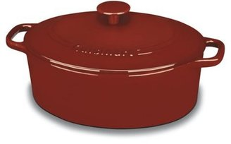 Cuisinart 5.5-qt. Oval Enameled Chef's Classic Enameled Cast Iron Covered Casserole, Cardinal Red