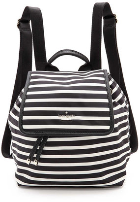 Kate Spade New York Classic Nylon Stripe Molly Backpack $228 thestylecure.com