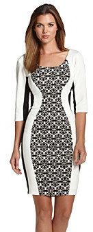 Sangria SangriaTM Lace Print Colorblock Dress