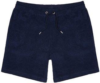 NN07 Cameron Navy Cotton-terry Shorts