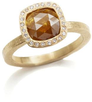 Gump's Todd Reed Orange & White Diamond Ring