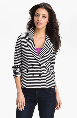 Halogen Stripe Ponte Jacket