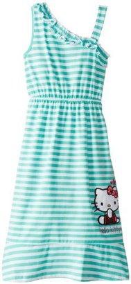Hello Kitty Little Girls' Stripe One Shoulder Dress