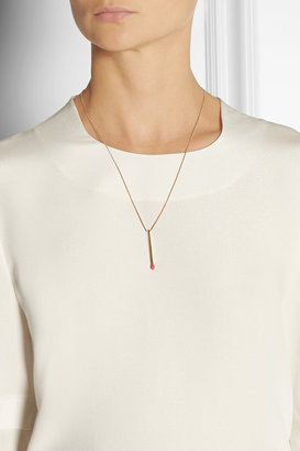 Matchstick gold-plated necklace