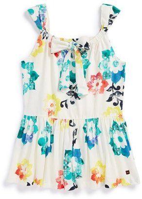 Tea Collection 'Sandcastle Floral Twirl' Tank (Toddler Girls, Little Girls & Big Girls)