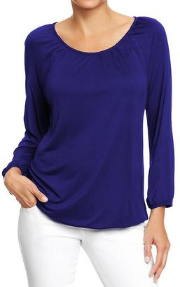 Old Navy Women's Jersey Peasant Blouses