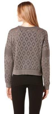 C&C California Diamond Knit Cropped Pullover