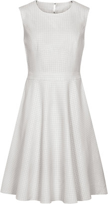 Reiss Natalie HOUNDSTOOTH FLARED DRESS