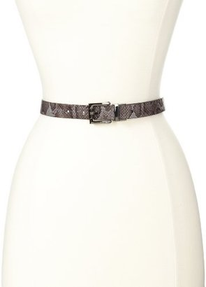 Nine West Women's 1-Inch Reversible Petite Pitone To Smooth Belt