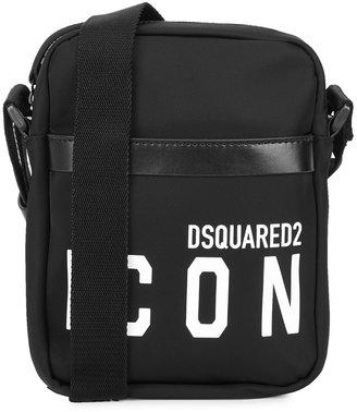 DSQUARED2 Icon Black Nylon Cross-body Bag