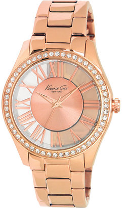 Kenneth Cole New York Watch, Women's Rose Gold Ion Plated Stainless Steel Bracelet 39mm KC4852