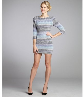 Opening Ceremony grey and blue cotton mini sweater dress