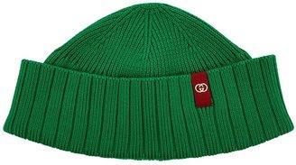 Gucci Green Logo Knitted Beanie