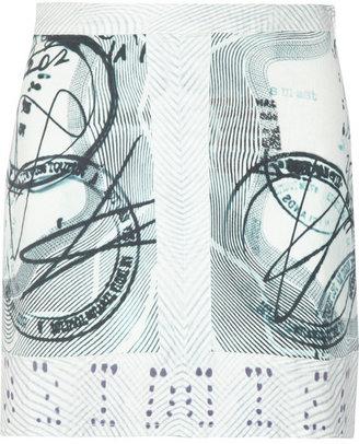 Current/Elliott + Mary Katrantzou The Past printed stretch-denim mini skirt