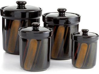 Sango Avanti Black Set of 4 Canisters