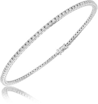 Forzieri 1.05 ctw White Diamond Eternity 18K Gold Tennis Bracelet
