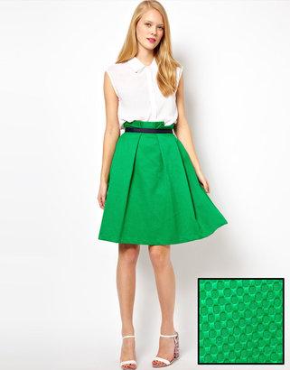 Asos Midi Skirt in Texture