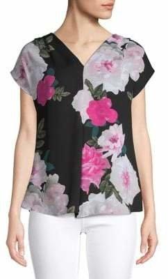 INC International Concepts Floral-Print V-Neck Blouse