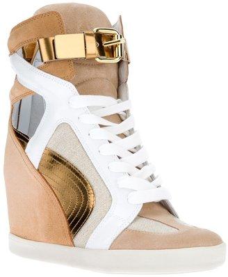 Casadei wedge hi-top sneaker