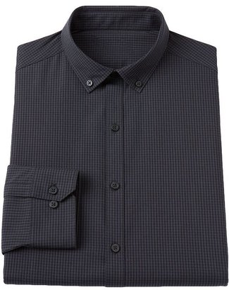 Rock & Republic Rock and republic slim-fit checked button-down collar dress shirt