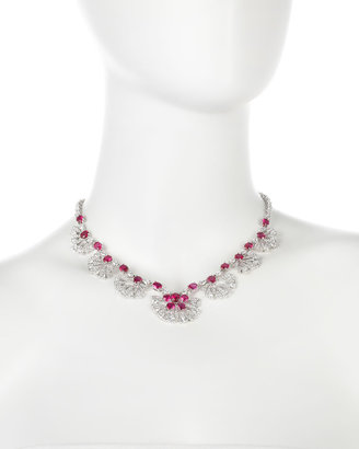 Kenneth Jay Lane CZ by Lotus Blossom Cubic Zirconia Necklace