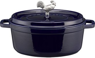 Staub Blue Oval Coq Au Vin. 5.75 qt.