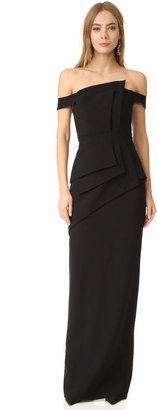 Black Halo Eve La Reina Gown $690 thestylecure.com