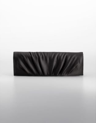 Carlo Fellini Satin Foldover Clutch