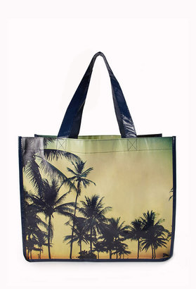 Forever 21 Tropical Paradise Shopper Tote