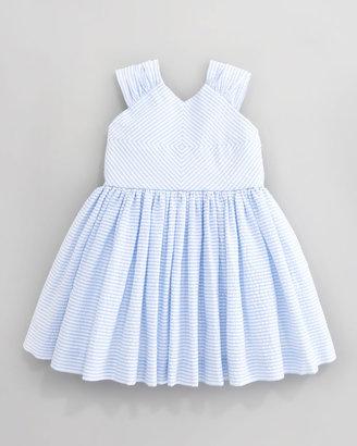 Helena Striped Seersucker Dress