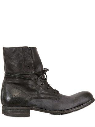 Officine Creative 30mm Calfskin Lace Up Boots