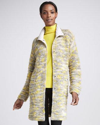 Lafayette 148 New York Long Knit Coat