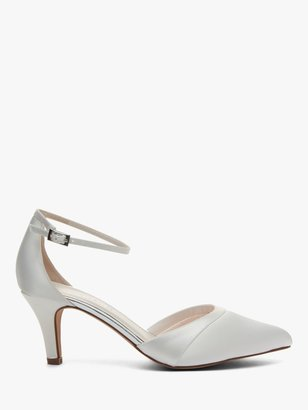 Rainbow Club Harper Satin Pointed Court Shoes, Ivory
