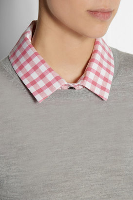 Carven Gingham cotton and silk-blend collar
