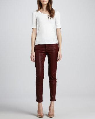 Joe's Jeans Coated Skinny Ankle Jeans