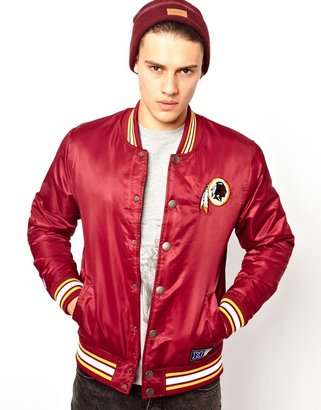 Majestic Washington Red Skins Satin Baseball Jacket