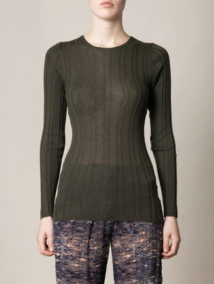 L'Agence Ribbed knit sweater