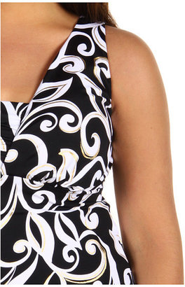 Miraclesuit Plus Size Curly Cue Lagoon Tankini