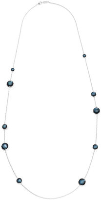 Ippolita Sterling Silver Wonderland Lollipop Station Necklace in Indigo 40""