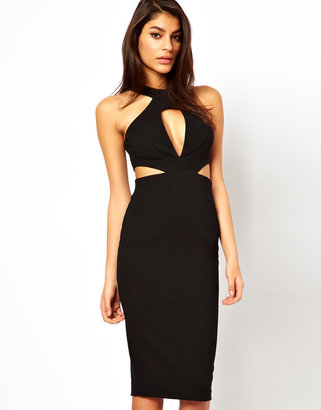 Asos Midi Dress with Cut Out Side