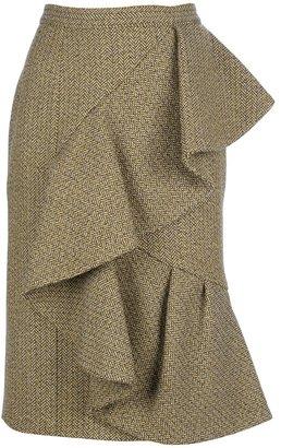 Burberry ruffle wool skirt