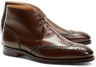 Brooks Brothers Peal & Co. Leather Wingtip Boots