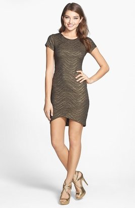 Nordstrom FELICITY & COCO Metallic Textured Knit Sheath Dress Exclusive)