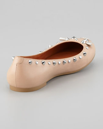 Marc by Marc Jacobs Studded Mouse Ballerina Flat, Nude