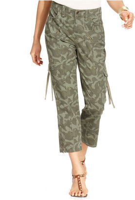 Style&Co. Pants, Camo-Print Utility Cargo Capri
