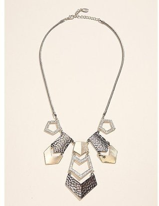 GUESS Geometric Statement Necklace