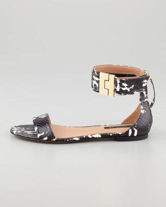 Rachel Zoe Gladys Watersnake Flat Sandal