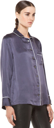 Equipment Avery Pajama Top in Greystone
